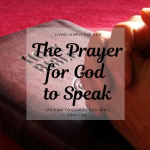 The Prayer for God to Speak